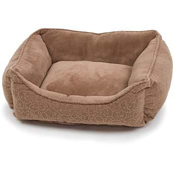 PETCO Brown Puffy Cat Box Bed, My Pet Supplies
