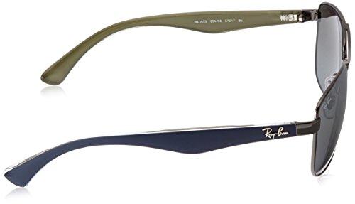 C57 Ray Grigiogunmetal ban grey Rb3533 Green Lenses Mirror Blue Aj5q4LR3