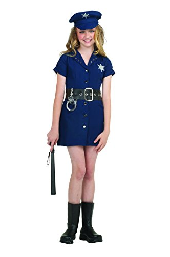 Girl Cop Costume (RG Costumes In The Line of Duty, Child Small/Size 4-6)