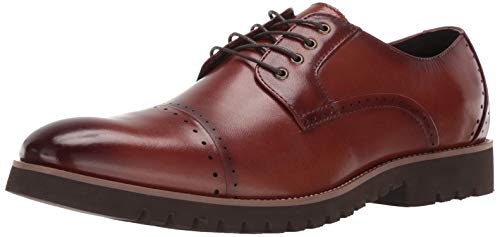 - STACY ADAMS Men's Barcliff Cap-Toe Lace-Up Oxford, Cognac 10 W US