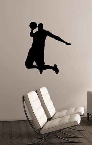 Basketball Player Silhouette Wall Decal Sports Vinyl Sticker Art Decorations for Home Kids Children Boys Room Decor bb5