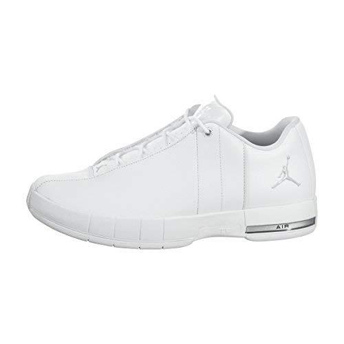 Jordan Mens Team Elite 2 Low White Mtllc Silver Platinum Size 12