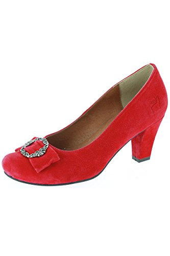 Ludwig und Therese Trachten Schuhe Vera rot D500032
