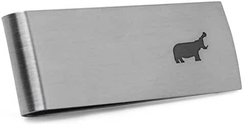 Hippo Money Clip   Stainless Steel Money Clip Laser Engraved In The USA.