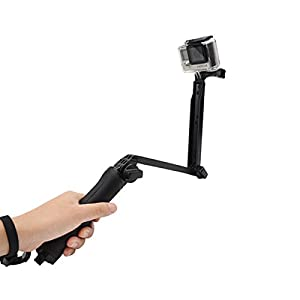 Soyan 3-Way Foldable Grip / Extension Arm / Tripod for GoPro Camera (Black)