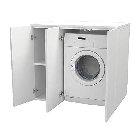 Ve.ca. Mueble de lavandería con puertas a rayas de 105 cm de ...