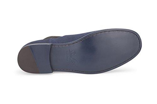 Soul36 Fairmont Mens Chelsea Pelle Scamosciata Caviglia Alta Trazione Elastico Gore Stivali Oxford Blu / Blu Scuro