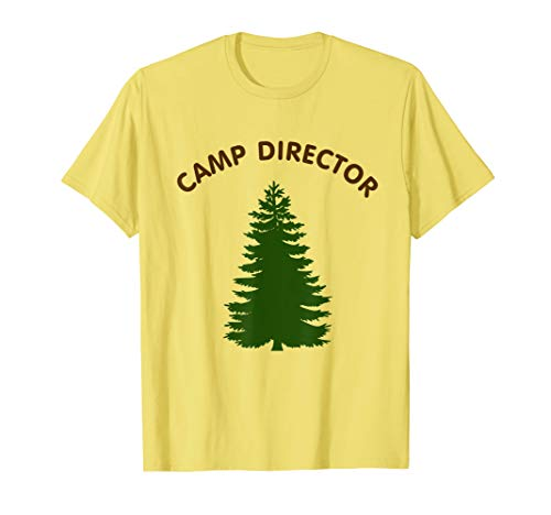 Camp Director Counselor Summer Pine Tree Tshirt Gift ()