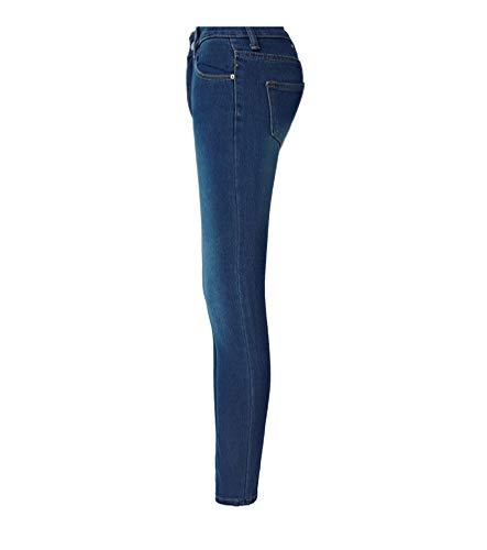 Yujeet Alta De Cintura Jeans Apretado Ajustado Mezclilla Pantalones De Lápiz Oscuro Sexy Elasticidad Cómodo Mujer Heterosexual Azul Corte Moda rpq0rX