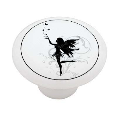 Butterfly Fairy Silhouette High Gloss Ceramic Drawer - Silhouette Butterfly