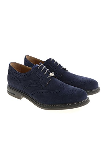 Brimarts Mens 312280se16s1814mar6 Scarpe Stringate In Camoscio Blu