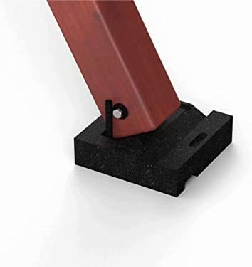 Swing Set Anchor Leveling Kit :: Includes Four Large Molded Rubber Blocks with Stakes and Hardware for Installation :: Keeps Your Swing Set Safe and Secure While Protecting Wood from Ground Moisture.