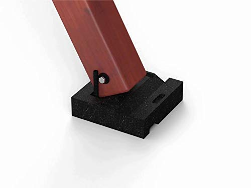 - Swing Set Anchor Leveling Kit :: Includes Four Large Molded Rubber Blocks with Stakes and Hardware for Installation :: Keeps Your Swing Set Safe and Secure While Protecting Wood from Ground Moisture.