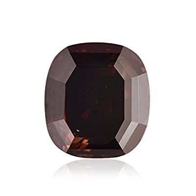 0.81Cts Fancy Red Brown Loose Diamond Natural Color Cushion Cut GIA Certificate