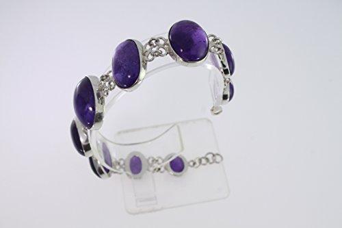 Bracelet en Améthyste PU BR158/14 - Bijoux en argent rhodié et Améthyste - Diverses pierres possible - ARTIPOL