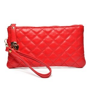 thetic leather soft women wallet with a wristlet ()