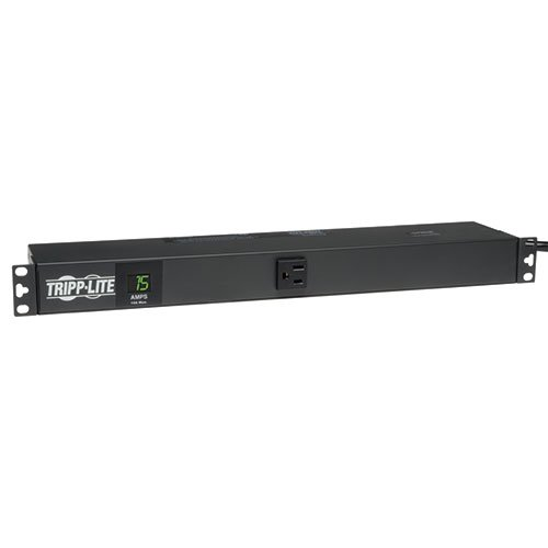 Tripp Lite Metered PDU, 15A, 13 Outlets (5-15R), 120V, 5-15P, 100-127V Input, 6 ft. Cord, 1U Rack-Mount Power (PDUMH15-6) by Tripp Lite