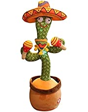 Dancing cactus electronic plush toy doll cactus toy that can sing and dance