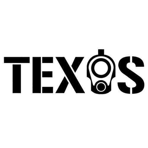Texas Gun Vinyl Decal Sticker (Two Pack) |