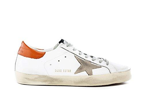 GOLDEN GOOSE Sneakers Uomo G30MS590.B34 Scarpe SUPERSTAR Pelle Bianca
