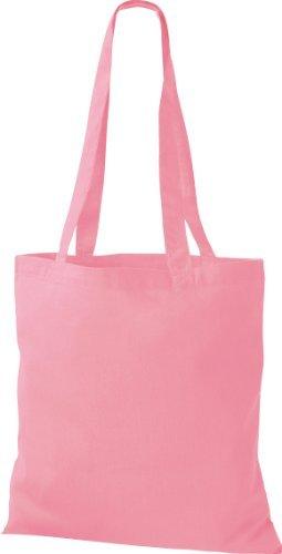 ShirtInStyle Premium Bolsa de tela Bolsa de algodón Bolsa Comprador Bolso de bandolera de muchos colores clásico rosa