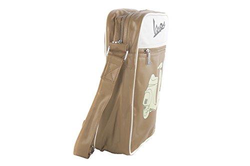 Tracolla uomo VESPA beige borsello multiscomparto VF232