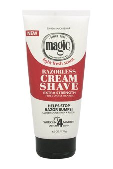 Razorless Shaving Powder - Magic Razorless Cream Shave Extra Strength 6 Oz. (Pack of 3)