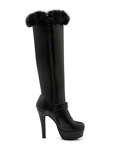 Botas Mujer 5 Xzz Stiletto Tacón Black Vestido Negro Uk3 Semicuero Zapatos Moda 5 us10 Cn43 Eu42 Casual Redonda A Plataforma White La Punta us5 Blanco Cn34 De Eu35 Uk8 qCw8pEIw
