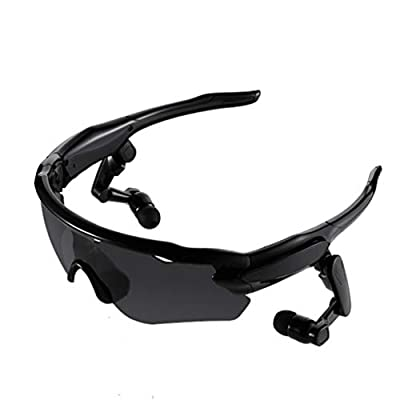 YWYU Bluetooth Glasses MP3 Music Play Multi-Function Outdoor Riding Sports Glasses Bluetooth Headset, Stereo Running, Cycling, Sports Headset, Answering Calls, Universal Long Standby
