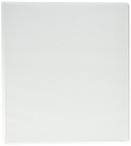 Samsill 1-Inch Clean Touch Antimicrobial View Binder, D-Ring, White (16237)