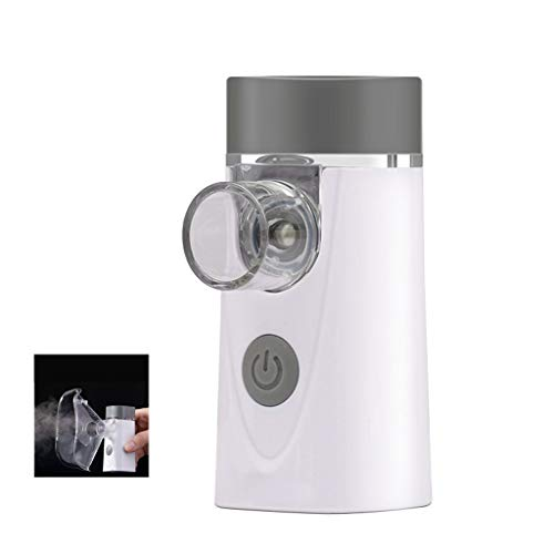 DONGBALA Inhaler, Medical Nebulizer Portable Atomizer Ultra Sonic Electric Hand-Held Phlegm Clear Lung for Children Adult Elderly Asthma Spray Throat Machine (White) (Best Way To Remove Phlegm From Throat)