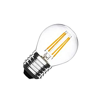 Bombilla LED E27 Regulable Filamento Small Classic G45 4W Blanco Cálido 2000K-2500K efectoLED