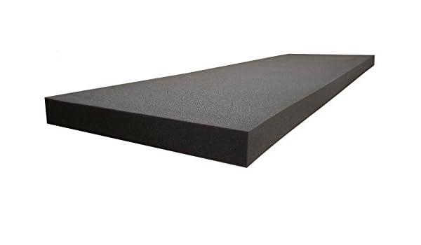 "Professional 2/"" X 36/"" X 96/"" Upholstery Foam Cushion Charcoal"