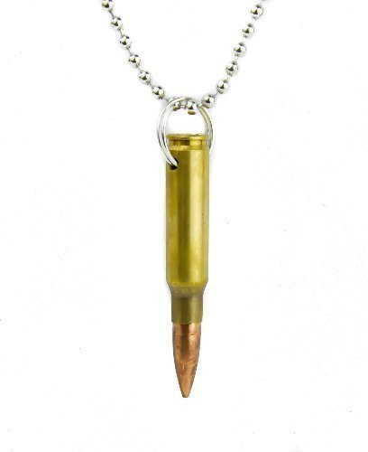 Real bullet necklace with 23 inch chain amazon jewellery real bullet necklace with 23 inch chain mozeypictures Gallery