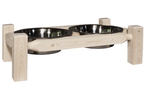 Collection Pine Finish - Montana Woodworks Homestead Collection Pet Feeder, Large, Ready to Finish