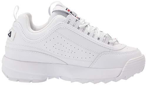 Fila womens Fila Women's Disruptor Ii Premium Sneaker, White/Navy/Red, 6.5 US