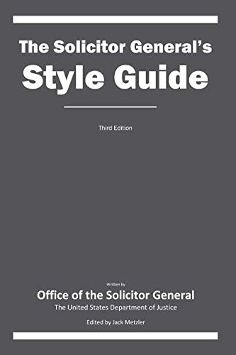 The Solicitor General's Style Guide: Third Edition