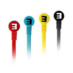 SENIC IS-R8 plegable en la oreja los auriculares para PC / iPhone / iPod / iPad / Samsung Rojo