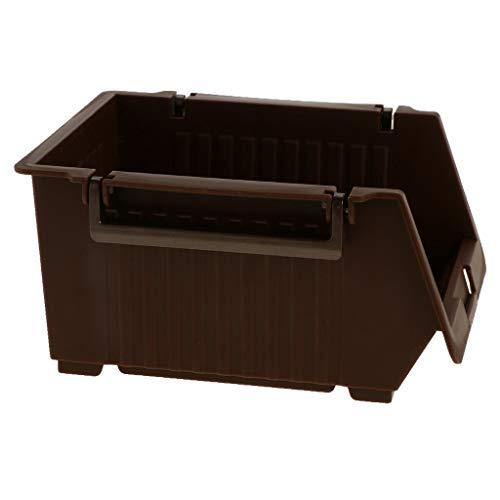 MOPOLIS Home Office Bedroom Bathroom Storage Box Drawer Sundries Desk Organizer (Color - Brown) - Assorted Basket Seasonal Fruit Small