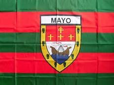 OFFICIAL IRELAND GAA crest COUNTY FLAG MAYO 152cm x91cm very limited stock (Outdoor Clocks Ireland)