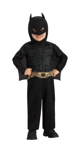 Dark Age Knight Costumes (Batman The Dark Knight Rises Toddler Batman Costume,Black, 1-2 Years)