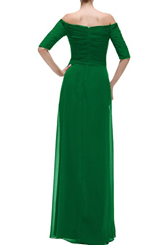 Promkleid Damen Chiffon Ausschnitt Ivydressing Lang Abendkleider Rot U Aermeln Mit Festkleider Zwg484xTq