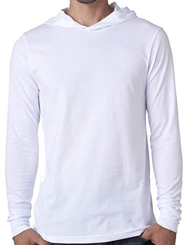 Yoga Clothing For You Mens Lightweight Hoodie Tee Shirt (Mens Medium, White)