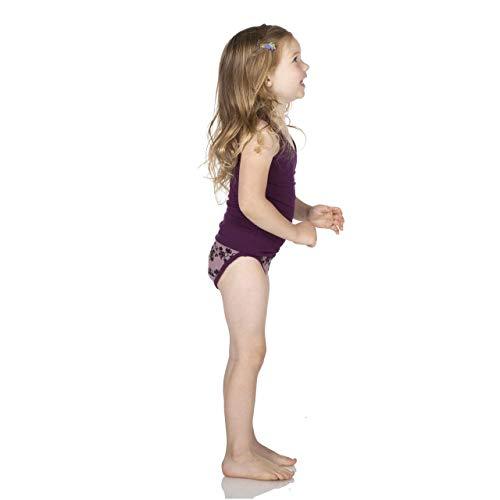 Kickee Pants Little Girls Underwear Set - Wine Grape Herbs and Raisin Grape Vines, 3T/4T (Infant Raisin Girl)