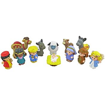 Amazon.com: Fisher Price Little People® Nativity Playset 11 Pieces NEW Great for Christmas: Toys ...