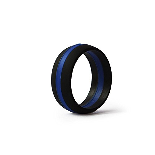 Thin Blue Line Silicone Weddin