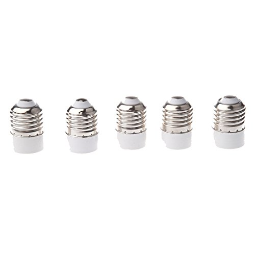 Price comparison product image TOOGOO(R)5 Pack E27 to E14 Lamp Light Socket Converter Convertor Bulb Extend Base CFL small Screw Adaptor