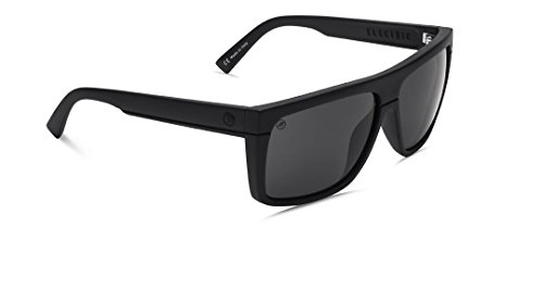 Electric Black Top Sunglasses Matte Black with OHM Grey Lens - Top Black Sunglasses Electric