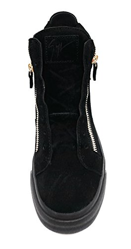 Giuseppe Zanotti London TR Italian Suede High Top Sneaker with Chains 40 EU/7 US ZV15mdUhA