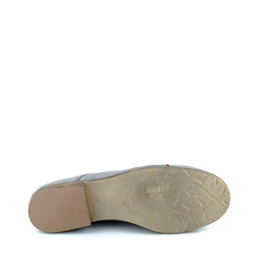 Felmini - Zapatos para Mujer - Enamorarse com Cuba A014 - Zapatos Derby - Cuero Genuino - Gris Gris